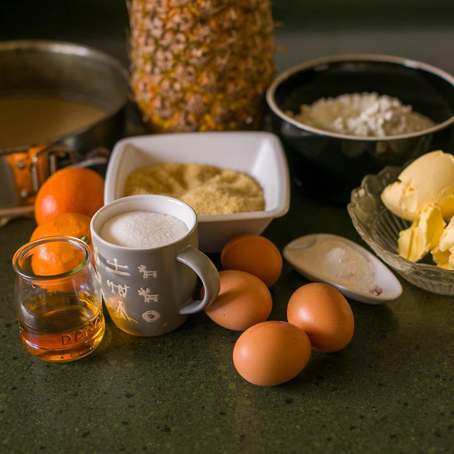 ingredientes para tarta de piña
