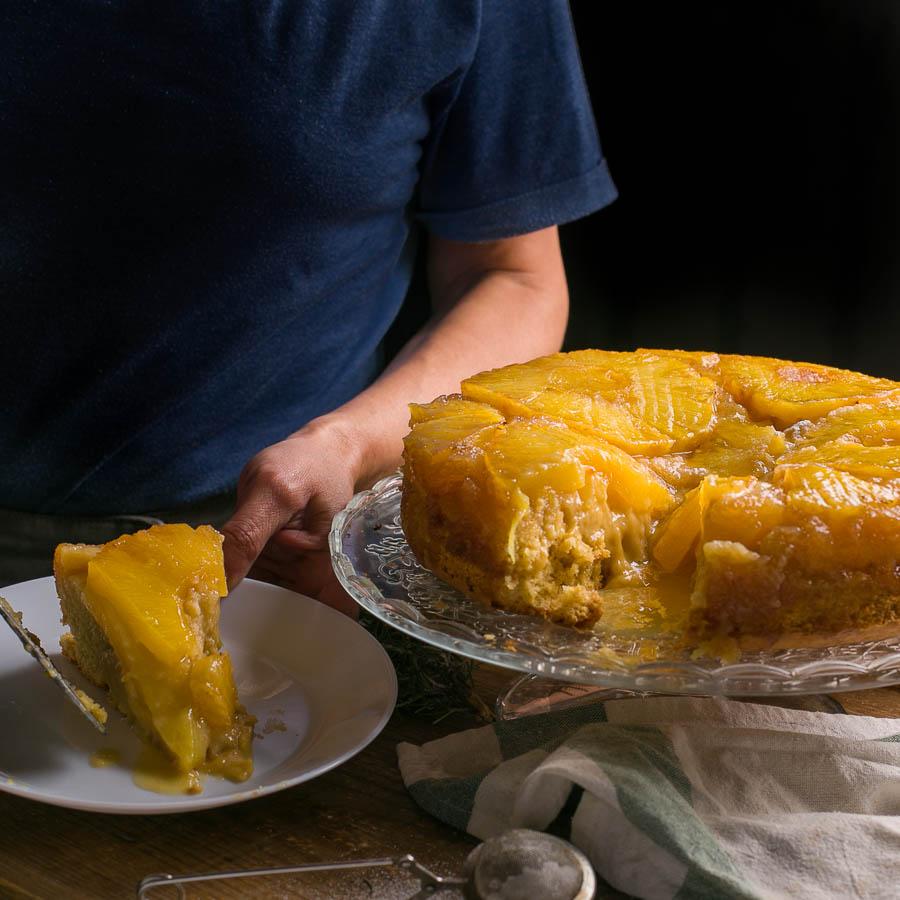 bodegon de tarta de piña